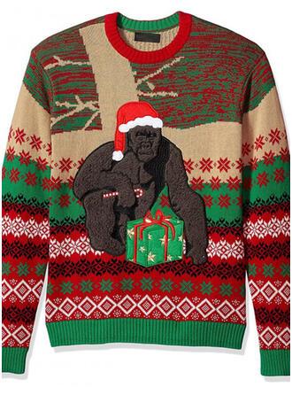 Unisex Polyester Animal Print Ugly Christmas Sweater