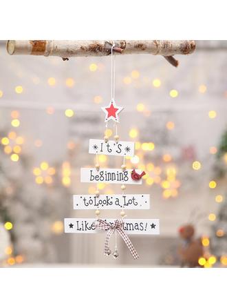 boldog Karácsonyt Függő Fa Karácsonyi medál Karácsonyi dekoráció