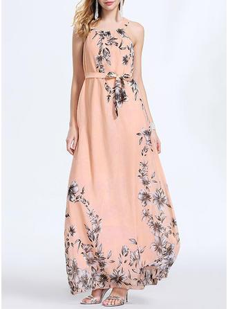 Print/Floral Sleeveless Shift Maxi Casual/Boho/Vacation Dresses
