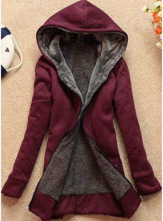 Woolen Long Sleeves Plain Slim Fit Coats