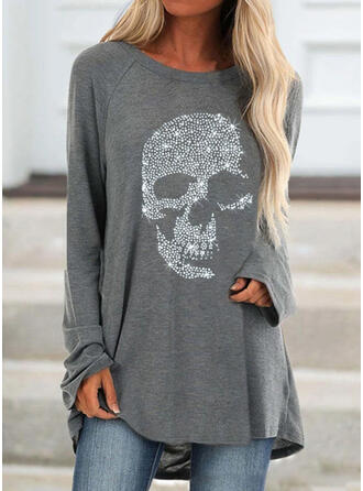 pailletter rund hals Lange ærmer Sweatshirts