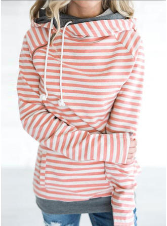 Bomull polyester Rand Hoodie
