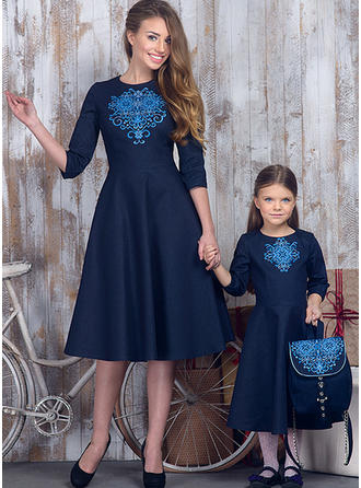 Print Matching Family Dresses