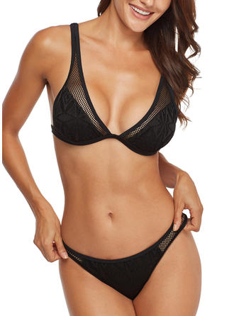 Solid Color Strap Sexy Bikinis Swimsuits