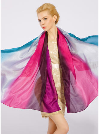 Degradado de color Ligero/de gran tamaño/Chal Pañuelo de seda