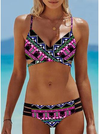 Imprimé À Bretelles Sexy Boho Bikinis Maillots De Bain