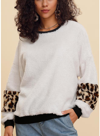 Polyester Animal Print Sweatshirt