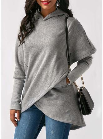 Cotton Blends Long Sleeves Plain Blend Coats