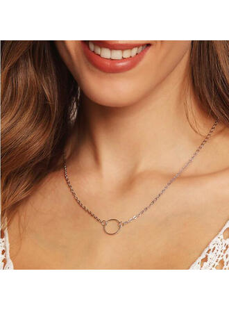 Simple Alloy Necklaces