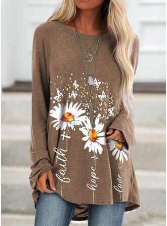 Bloemen Dierenprint Ronde nek Lange Mouwen Sweatshirts