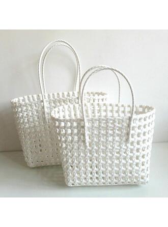 Uniek/Effen kleur/Bohemian stijl/Gevlochten/Eenvoudig/Handgemaakte Tote tassen/Strandtassen/Hobo Bags Riemzakken/Opbergtas