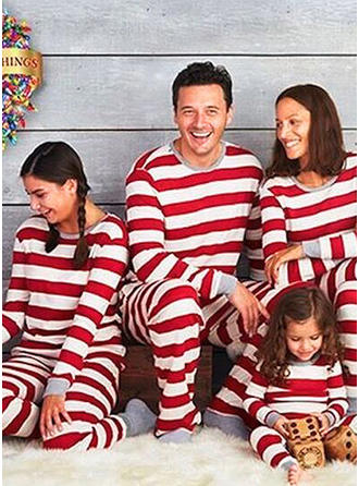 Stribe Print Familie Matchende Jul Pyjamas