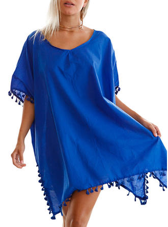 Round Neck Elegant Cover-ups Swimsuits