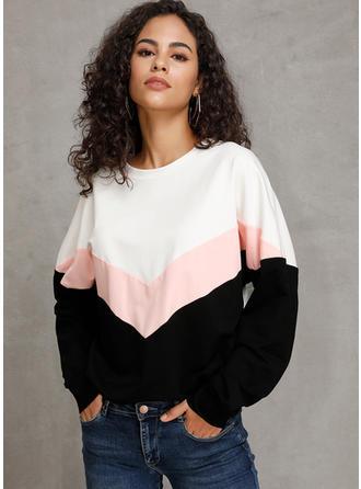 Polyester Farbblock Pullover