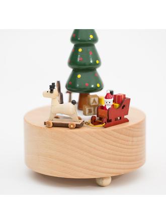 Navidad Madera Caja De Música