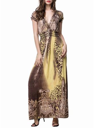 Print A-line/Shift Midi Dresses