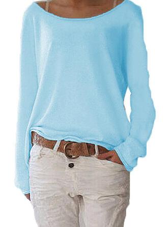 Plain Boat Neck Sweaters