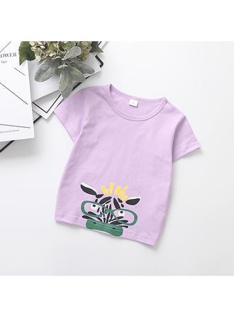 Bébé & Bambin Fille Imprimé Bande Dessinée Coton T-shirt