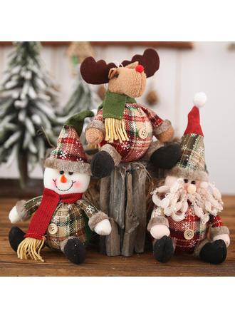 Gnomo Monigote de nieve Reno Navidad Tela Muñeca Decoración navideña