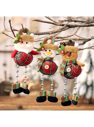 Monigote de nieve Reno Papa Noel Navidad Colgando Pierna larga Tela Muñeca Decoración navideña