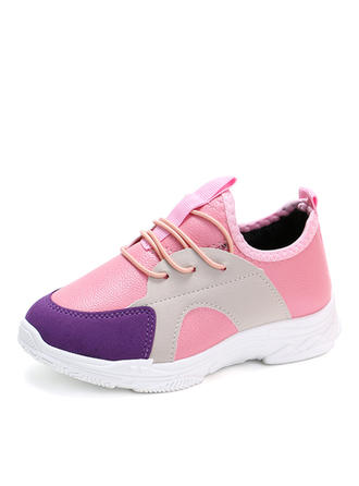 Unisex Leatherette Round Toe Closed Toe Flats Sneakers & Athletic With Lace-up