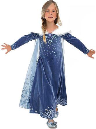 Dziewczyny Okrągły Dekolt Wydrukować Ładny Party Sukienka
