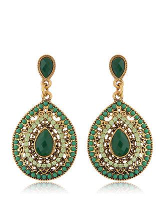 Maravilloso Aleación Diamantes de imitación Señoras' Pendientes de la manera