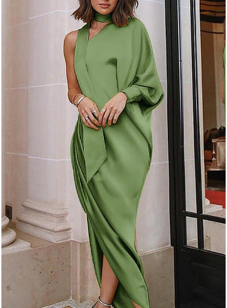 Solid Sleeveless Shift Maxi Sexy Dresses