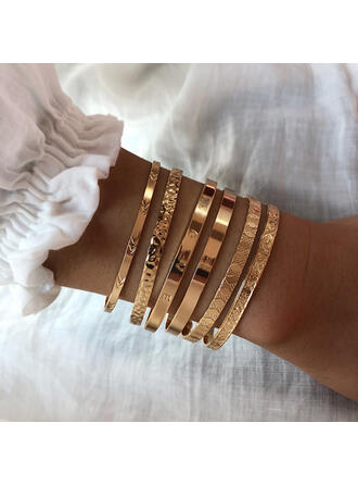 Fashionable Gold Plated Bracelets Body Jewelry (Set of 2)