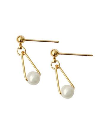 Fashional Alloy Imitation Pearls With Imitation Pearl Women's Fashion Earrings (Set of 2)