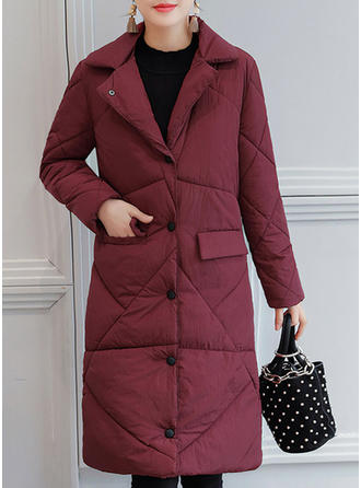 Polyester Long Sleeves Plain Down Coats