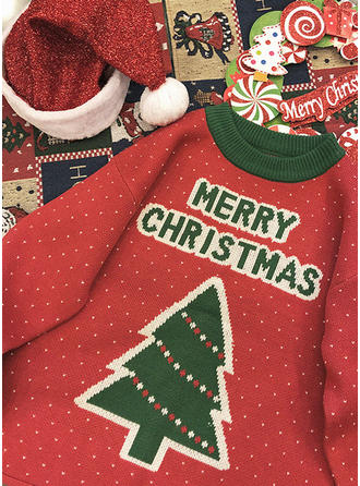 Polyester Crew Neck Print Ugly Christmas Sweater