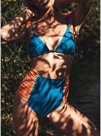 Épissage Couleur À Bretelles À La Mode Bikinis Maillots De Bain