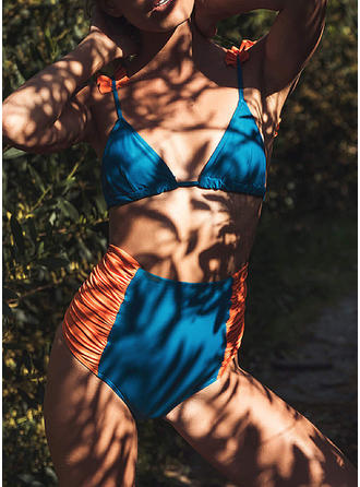 Splice color Strap Fashionable Bikinis Swimsuits