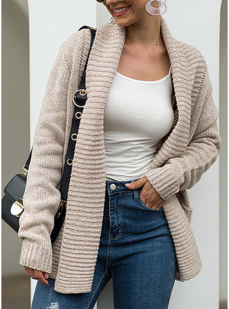 Solid Ribbed Chunky knit Pocket Cardigan