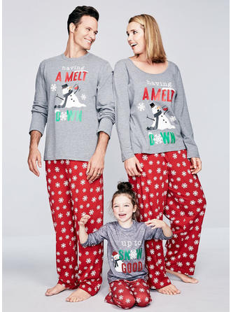 Cartoon Matching Family Christmas Pajamas