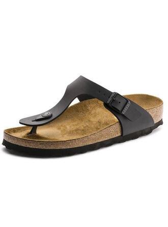 Frauen PU Flascher Absatz Sandalen Slingpumps Pantoffel Schuhe