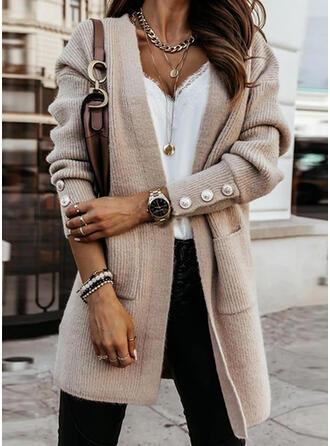 Einfarbig Lässige Kleidung Pullover