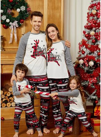 Rénszarvas Levél Nyomtatás Családi Karácsonyi pizsamák