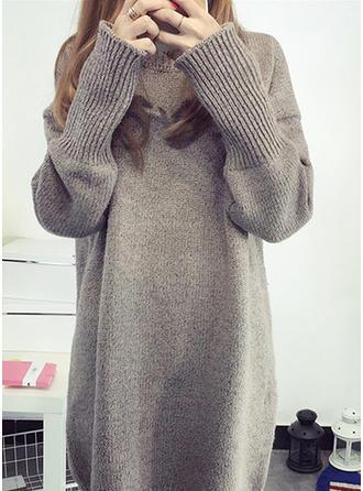 Mieszanki bawełniane Okrągły Dekolt masywna dzianina Swetry