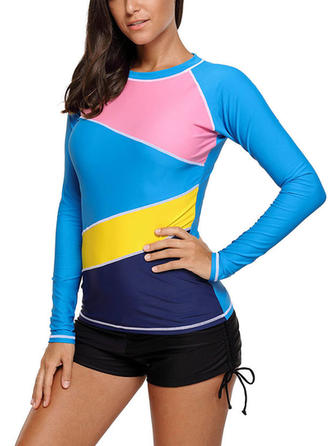 Low Waist Top Round Neck Sports Plus Size Tops Swimsuits