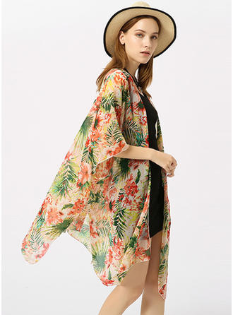 Floral Light Weight/fashion/simple Beach Poncho