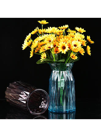 Casual Glass Table Vases (Set of 2)