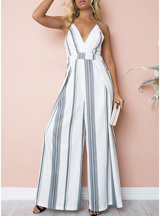 Striped Sleeveless Maxi Sexy/Casual/Vacation Dresses