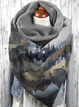Retro /Annata/Stampe grafiche moda/Colorato Sciarpa