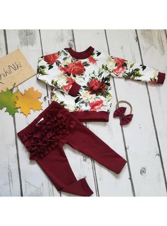 Bébé & Bambin Fille Imprimé floral Coton Pantalon,Bandeau,Pullover Définir La Taille