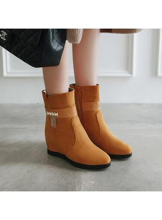 Dla kobiet Skóra ekologiczna Obcas Koturnowy Kozaki Botki Z Stras/ Krysztal Górski obuwie