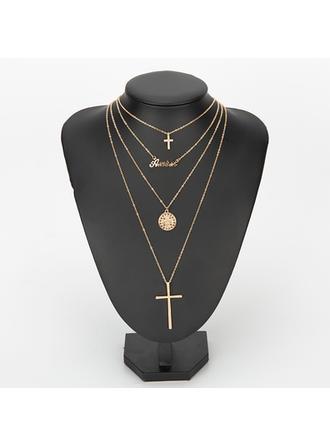 Krzyż Stop Cyrkonie Z Stras/ Krysztal Górski Dla kobiet Moda Naszyjnik (Sprzedawane w jednym kawałku)