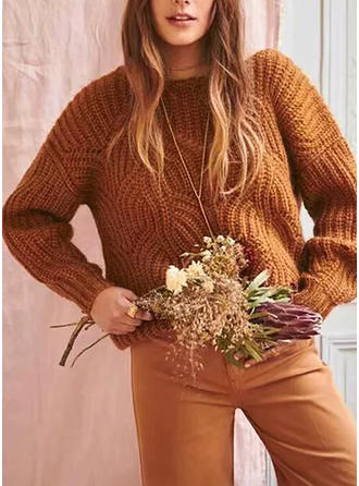 Acrylic Round Neck Plain Sweater