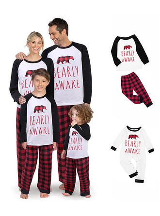 Bear Letter Family Matching Christmas Pajamas